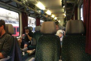 ブダペスト-ザグレブ間の列車